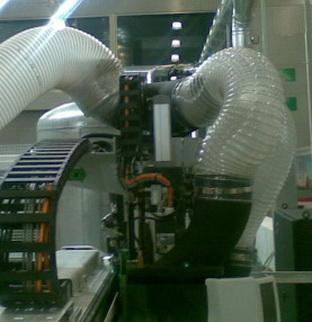 Воздуховод из полиуретана на оборудовании PU толщина стенка 1.1 мм