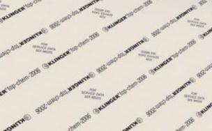 ФТОРОПЛАСТОВЫЙ материал  KLINGER  TOP-CHEM2006, толщина 2 мм,1500*1500 мм