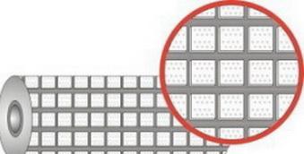 Футеровочная резина TRS CERALAG с керамическими вставками 15*385*10000 мм, Ромб 25 мм × 25 мм