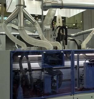 Воздуховодов PU 1.1 мм Ду 250 мм для транспортировка абразивных материалов.