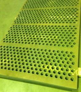 Сита из стали Hardox 450x25. Размеры сит — 1800x1200 мм, ячейка — 70 мм. Метод :гидроабразивная резка