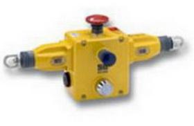 Тросовый выключатель ER1032 . Подключение двух тросов, напряженный режим, возможная длина троса до 125м, IP67, E-stop, Индикатор, переключатель сброса, 4NC+2NO, 4x M20 conduit