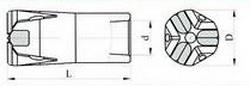 Трёхлезвиевые коронки типа БКПМ-Т Ду 40- 22, L- 75мм