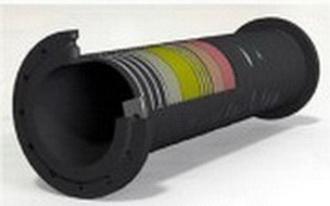 Напорновсасывающий трубопровод ,Ду 300 мм,L-10000мм, Раб вакуум 0.8 Атм , Р-10 Атм