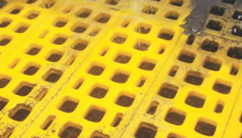 Полиуретановые сита Ячейка  40 мм,Толщина сита 30 мм,Размеры  300 x 1000 мм