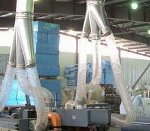 Воздуховодов PU 0.9 мм Ду 250 мм для транспортировка абразивных материалов.