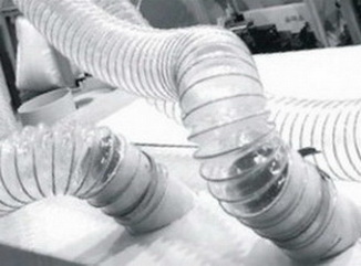 Воздуховодов Ду 160 мм PU 0.7 мм для транспортировка абразивных материалов.