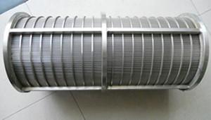 Сито щелвое вращающее : Ду 258 мм*шель 0.04 мм*L-500 мм *AISI 321