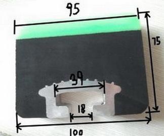 Амортизационная балка в разрезе 100*75*1220 мм