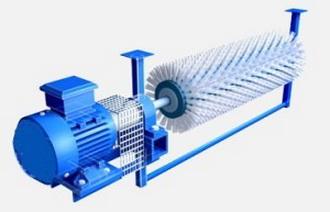 Ширина ленты 500 мм, Ду щетины 250 мм, для движения ленты свыше 4 м/с, скорость вращения щетки — 950 об/мин. Ду ворса 1.2 мм . Материал -полиамид (РА.6)