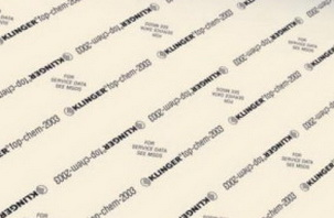 ФТОРОПЛАСТОВЫЙ материал  KLINGER® TOP-CHEM 2003, толщина 2 мм,1500*1500 мм