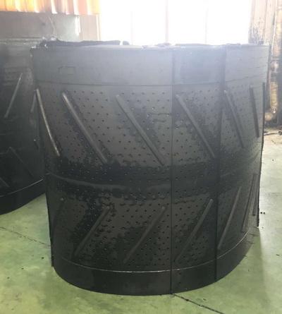 Дробемётная лента Q328. Длина 4200 мм. Ширина 1100 мм Толщина 20 мм Диаметр отверстий 13 мм