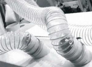 Воздуховодов Ду 140 мм PU 0.7 мм для транспортировка абразивных материалов.