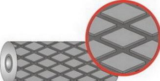 Резина футеровочная TRS MINI 60 ECO, 64±5 по Шору, Профиль: ромб 33 мм × 17 мм.
