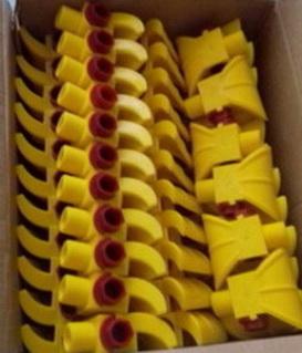 Форсунки полиуретановые с распылителем Ду 4 мм и резьбой наружной 3/4.