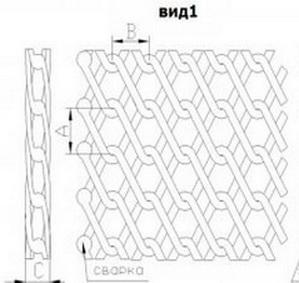 Транспортерная сетка плетеная двойная (Тип-2) Вид 1. Ячейка 4 мм, Ду проволоки от 1.5 мм
