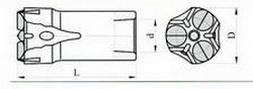 Трёхперые коронки КТШ Ду 40-25 L-78 мм