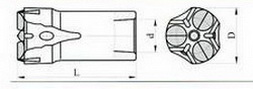Трёхперые коронки КТШ Ду 43-25 L-78 мм