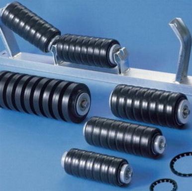 Ролики с амортизирующими кольцами прямоугольного профиля , РП 108*125*42 мм