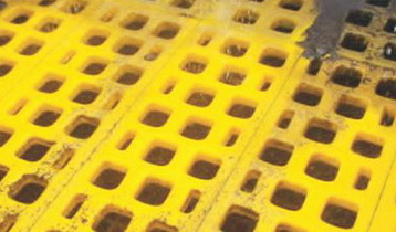 Полиуретановые сита Ячейка 0.5 мм,Толщина сита 30 мм,Размеры 300 x 1000 мм