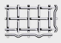 Проволочное сито тип форма Е —сложно рифленой сеткой 8*2,0 мм