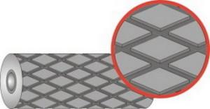 Резина футеровочная TRS MIDI 60 ECO SUPER 12*1500*10000 мм, Ромб 46 мм × 27 мм,