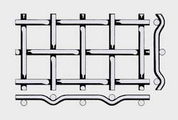 Проволочное сито тип форма Е —сложно рифленой сеткой 10х0,9 мм