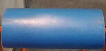 Ролик ПВХ D 114 L 580 мм ,Диаметр вала 25 мм