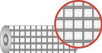 Футеровочная резина с квадратными керамическими вставками в блоке профиля.TRS CERALAG SQ