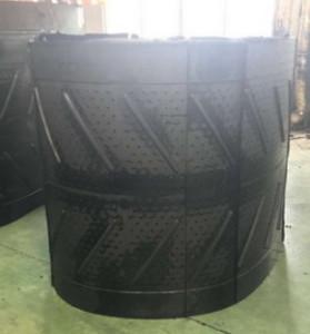 Дробемётная лента QR328. Длина 4200 мм. Ширина 1200 мм Толщина 20 мм Диаметр отверстий 10 мм