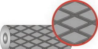 Резина футеровочная TRS MINI 60 10*1500*10000 мм, Ромб 33 мм × 17.