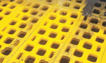 Полиуретановые сита Ячейка 20 мм,Толщина сита 30 мм,Размеры 300 x 1000 мм