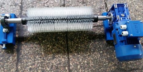 Щетка для очистки конвейерной ленты с мотор редуктором