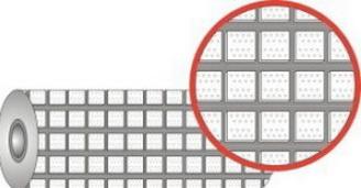 Футеровочная резина TRS CERALAG с керамическими вставками 15*385*10000 мм, Ромб 25 мм × 25 мм,