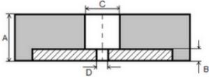 Противоударный квадратный блок Размер блока:  500×500 мм.Твердость: по Шору 60±5