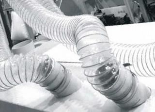 Воздуховодов PU 0.7 мм для транспортировка абразивных материалов.