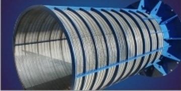 Размер щели от 0,05мм AISI (304, 321, 316 ) Стандартная проволока тип Sb , Диапазон диаметра от Ду 50 до Ду 500 мм