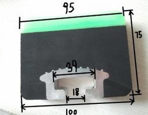 Разрез балки амортизационной 100*75*1220 мм