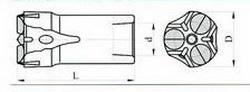 Трёхперые коронки КТШ Ду 40-22 L-78 мм