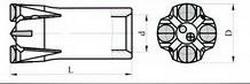 Штыревые корнки БКРШ К Ду 51-32 L-114мм