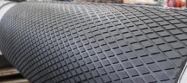 Футеровочная резина TRS для приводных барабанов 10*2000*10000мм, Ромб 33 мм × 17 мм