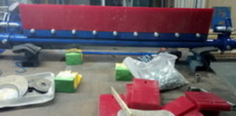 Скребок-очиститель полиуретановый (9 сигментов , ширина-1080 мм)