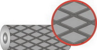 Резина футеровочная TRS MINI 60 8*1500*10000мм, Ромб 46 мм × 27 мм,