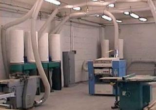 Воздуховод PU 0.9 мм Ду 160 мм для оборудования по деревообработке.