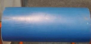 Ролик ПВХ D 114 L 550 мм ,Диаметр вала 20 мм