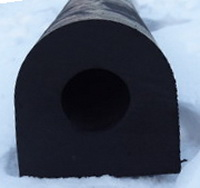 DК-образный привальный брус 150х150 х2000мм (DК- 75)