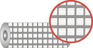 Футеровочная резина TRS CERALAG с керамическими вставками 15*385*10000мм, Ромб 25 мм × 25 мм,