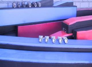 Противоударные балки с полиэтиленовым покрытием и со скосом на краю