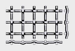 Проволочное сито тип форма D –замковая рифленная сетка 1.25*0.5 мм