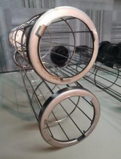 Каркас для рукавного фильтра Ду 143*4600 мм *4*12 прутков (материал нержавеющая сталь AISI 201)